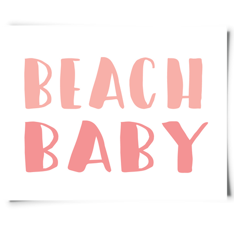 Printable Beach Baby Sign