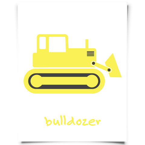 Bulldozer Free Printable