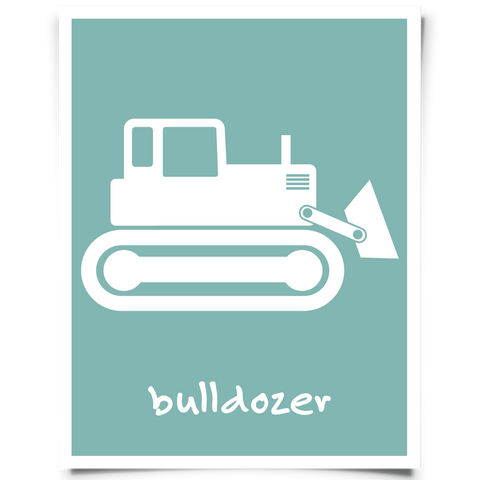 Bulldozer Free Printable - peacock