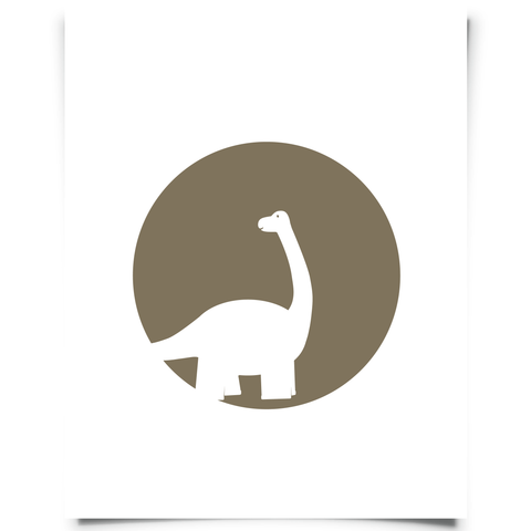 Brontosaurus Free Printable - Brown
