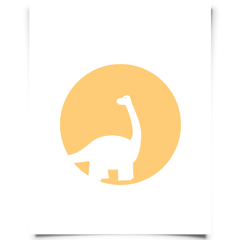 Brontosaurus Free Printable - Orange