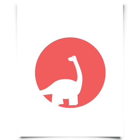 Brontosaurus Free Printable - Red