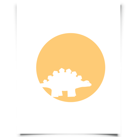 Stegosaurus Free Printable - Orange