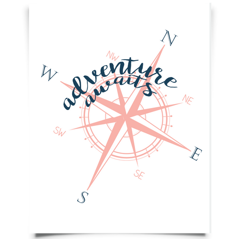 compass beach themed printable