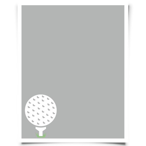 golf printable light gray