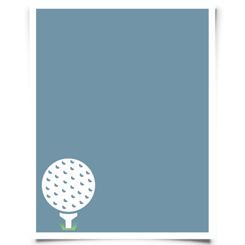 Golf Printable - Blue