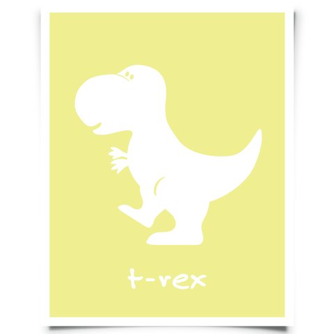 T-Rex Free Printable - Yellow
