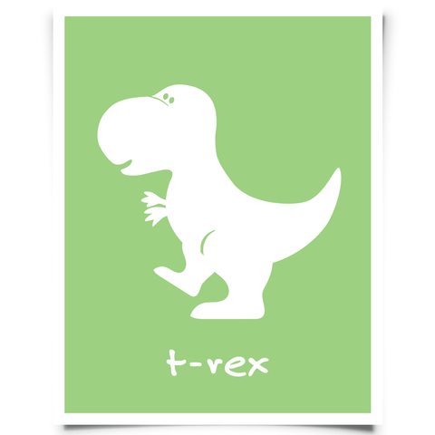T-Rex Free Printable - Green