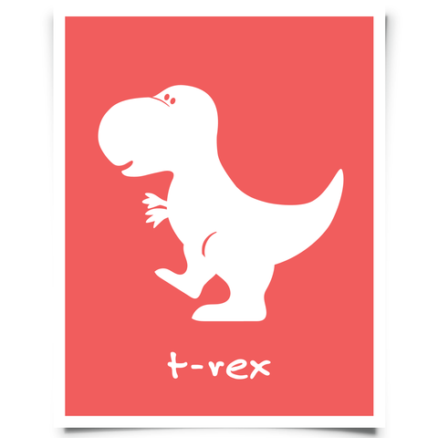 T-Rex Free Printable - Red