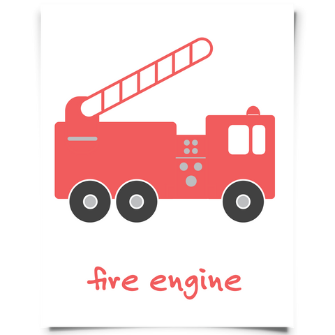Free Fire Engine Printable