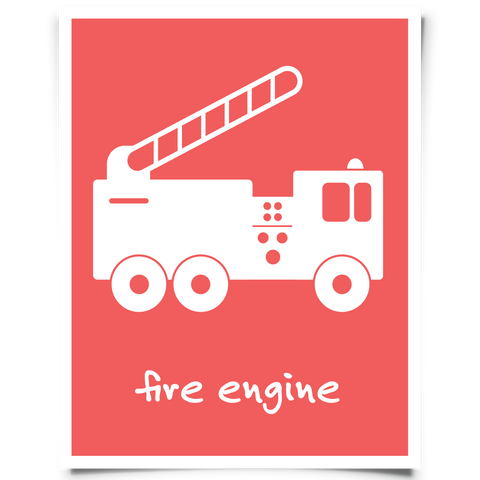 Fire Engine Printable - Red