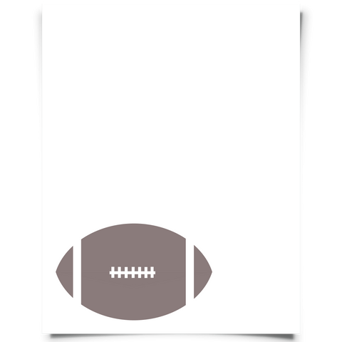 corner football printable brown
