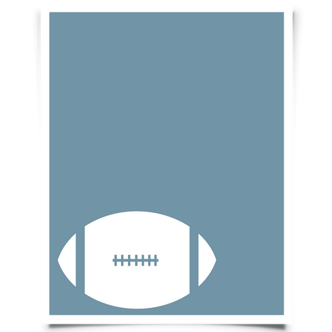 Corner Football Printable - Navy Blue