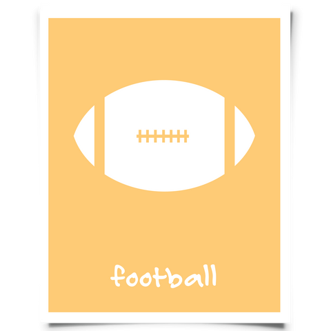 Football Printable - Orange