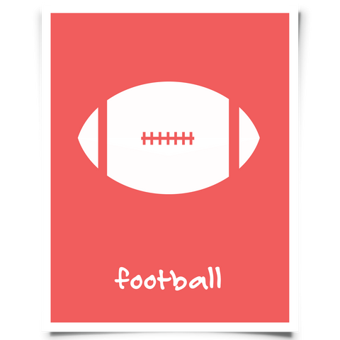Football Printable - Red