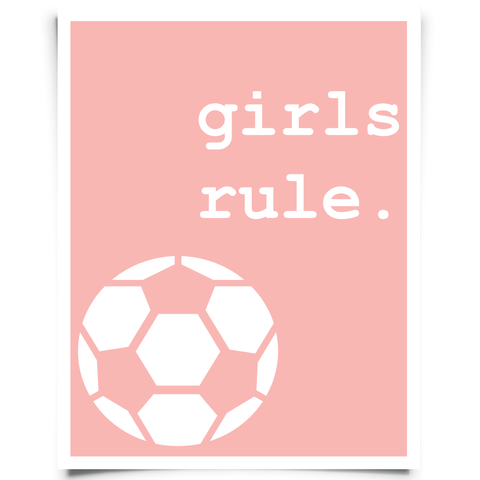 Girls Rule Soccer Printable