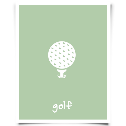 golf printable - green