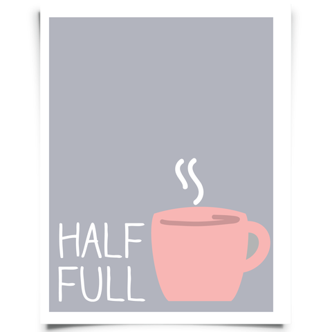 Half Full Printable Light - Gray And Pink