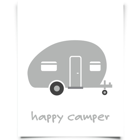 Camper Printable - Gray