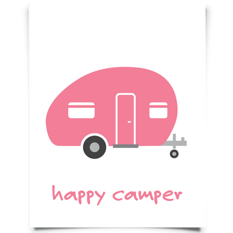 Camper Printable - Flamingo