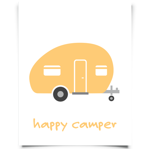 Camper Printable - Orange