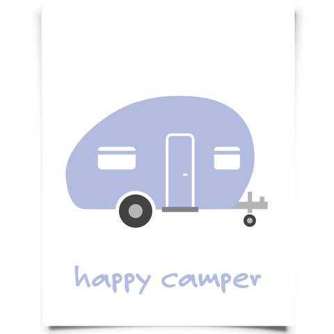 Camper Printable - Plum