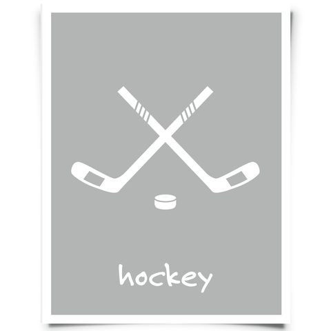 hockey sticks printable gray