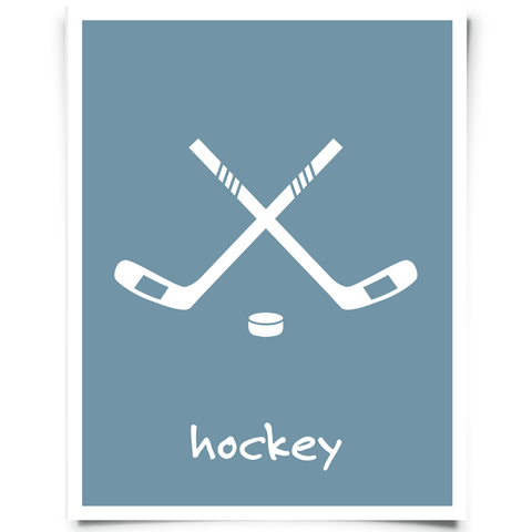 Hockey Sticks Printable - Blue