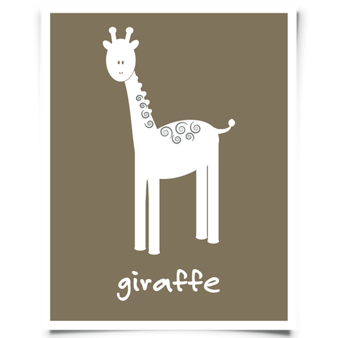 Giraffe Free Printable - Brown