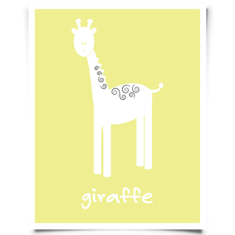 Giraffe Free Printable - Yellow