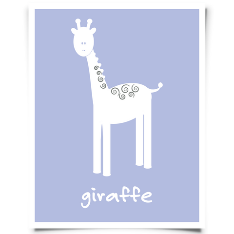 Giraffe Free Printable - Purple