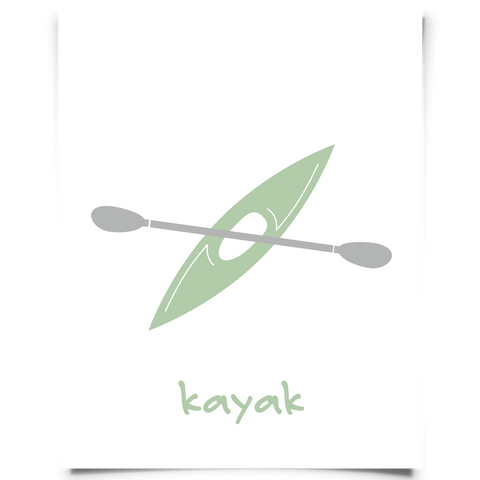 Kayak Free Printable - Jade