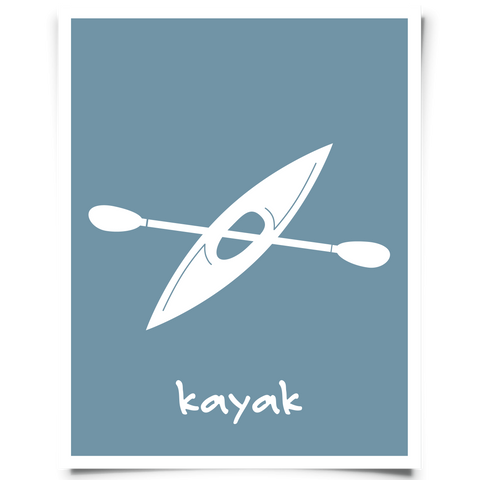 Kayak Printable - Navy