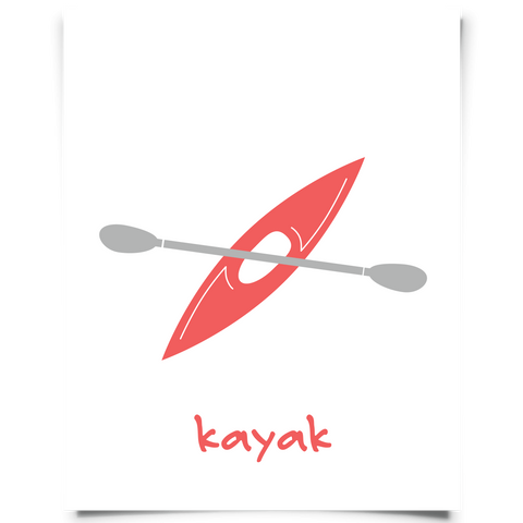 Kayak Freebies - Kayak Printable Red