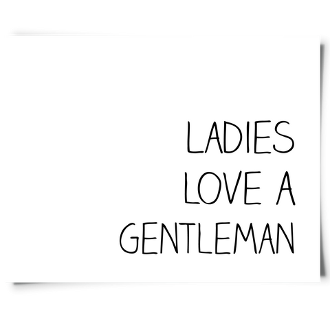 Ladies Love Gentleman Free Printable