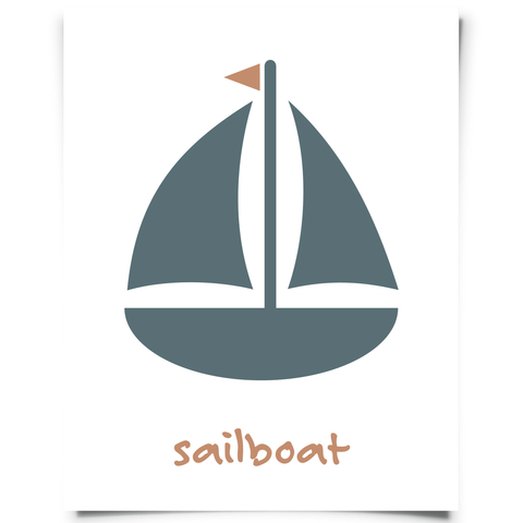 Free Sailboat Printable Modern