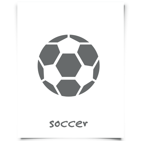 soccer printable dark gray