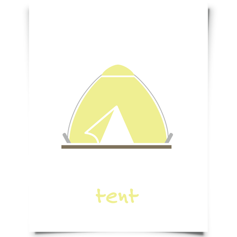 Tent Printable - Canary