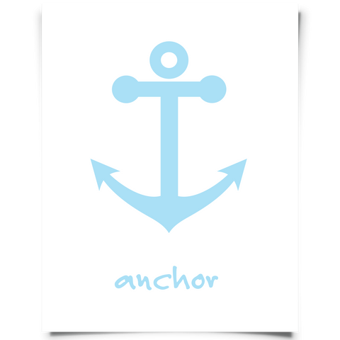 Anchor Art Printable Aqua