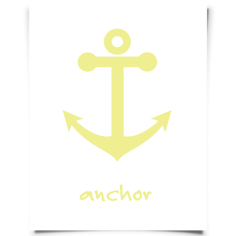 Anchor Art Printable Yellow
