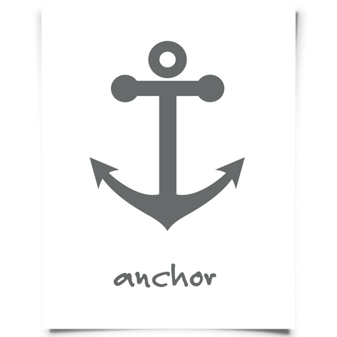 Anchor Art Printable Gray