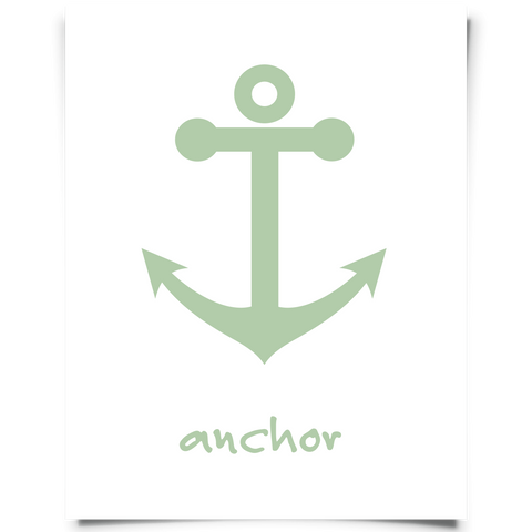 Anchor Free Printable Green