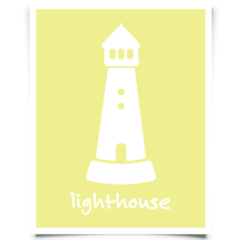 Lighthouse Art Printable - Canary