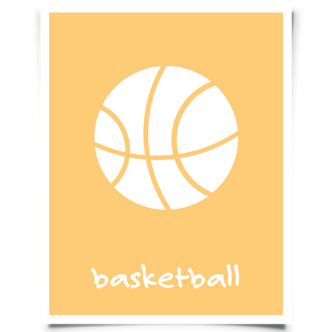 basketball printable orange