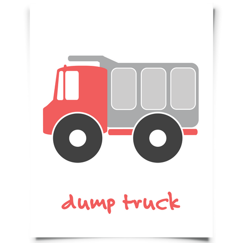 Dump Truck Free Printable - Red