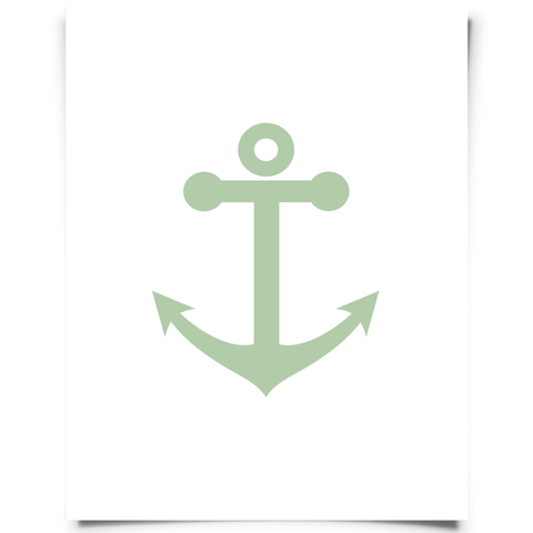 Free Printable Anchor Artwork - Green