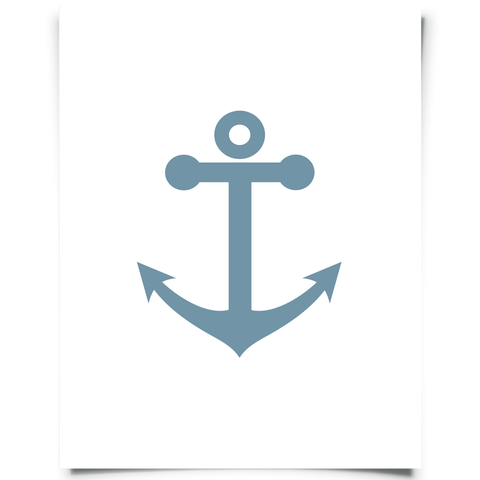 Free Printable Anchor Artwork - Blue