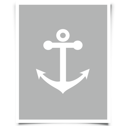 Free Printable Anchor Artwork - Charcoal Gray
