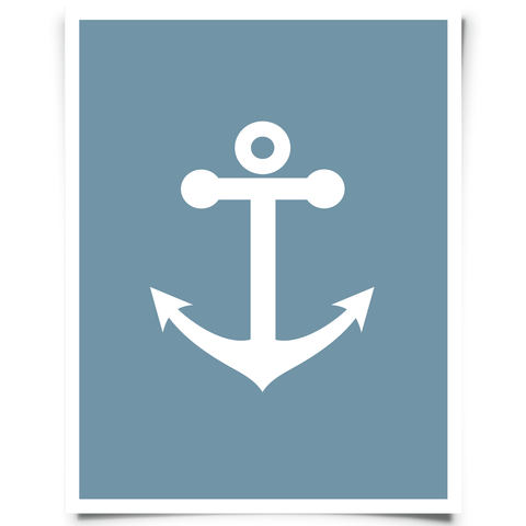 Free Printable Anchor Artwork - Navy Blue
