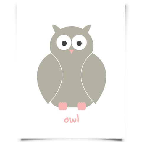 Pink Owl Nursery Printable